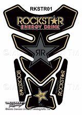 Rockstar Energy Drink Universal Black Tank Pad Tankpad Motografix Gel Protector