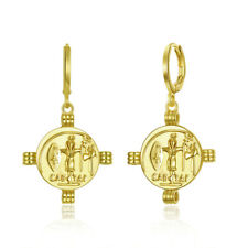 Bohemian Bronze Pharaoh Drop Dangle Leverback Unique Earrings Women Jewelry Gift
