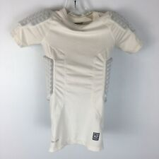 Nike Pro Combat Men's White Dri Fit Football Compression Gear Size Medium