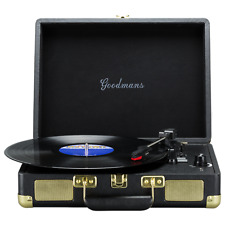 Goodmans GDPTURNT01BLKXI Portable Briefcase 3 speed Turntable