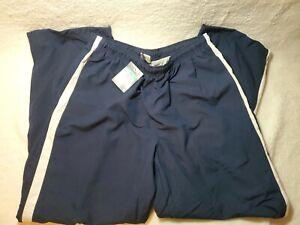 Mens Nike Cotton Lined Windbreaker Pants Extra Large Blue White Stripe NWT 2008