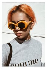 Orange Nirvana Kurt Cobain Alien Oval Vintage Retro Clout Goggles