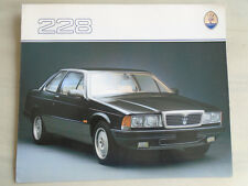 Maserati 228 brochure c1982 English text