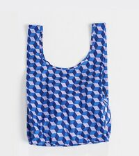 BAGGU BLUE CUBE Standard Size Reusable Bag - NWT - Discontinued Pattern