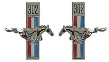 NEW! 1968 Ford Mustang  Running Horse Tri Bar Fender Emblems, Right, Left 302