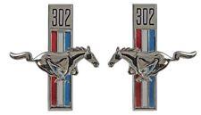 NEW! 1968 Ford Mustang  Running Horse Tri Bar Fender Emblems, Right, Left 302