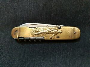 ANTIQUE POCKET KNIFE FRENCH WITH FARMER DESIGN COURSOLLE