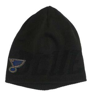 New NHL St Louis Blues Men's Winter Hat Grey Reversible One size fits all