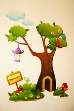 Tree Wall Flower Stickers Baby Nursery Childrens Kids Boys Decals Stickarounds