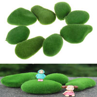 2Pcs Artificial Fresh Moss Balls Green Plant Stones Home Party Decoration 3C
