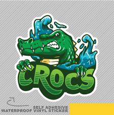 Crocodile Splash Bouclier Cartoon SMI Vinyle Sticker Autocollant Fenêtre Voiture Van Vélo 2163