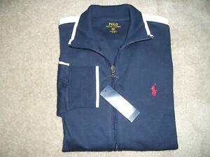 NWT Polo Ralph Lauren Full Zip Sweatshirt Track Jacket, French Navy, Medium