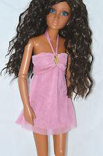 "Lorifina 20"" doll dress Pink Mini jeweled  NEW Hasbro barbie & Tonner 18 to 20"""