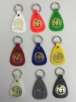 NARCOTICS ANONYMOUS  NA KEY TAG Ring  Recovery Just For Today 9 LOT FRENCH