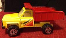 Vintage Yellow Tonka Construction Pressed Steel Dump Truck Manual Red Tilt Bed
