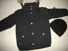 H&m Winterjacke Gr 104 schwarz  mit Kaputze