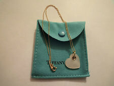 Tiffany & Co.18k Yellow Gold Mother Of Pearl  Heart Pendant Necklace