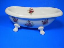 VB Athena Ceramic Claw Foot Bath Tub/Soap Dish/Trinkets/Cottage/Vintage USA