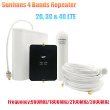 Sunhans 4 Bands Repeater 2G,3G&4G LTE 65dB Mobile Signal Repeater with Antenna