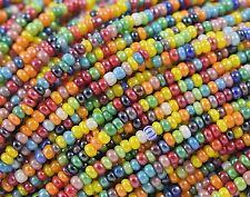 "Czech Glass Seed Beads Size 10/0 "" LUSTER OPAQUE MIX 3 "" 1 Hank"