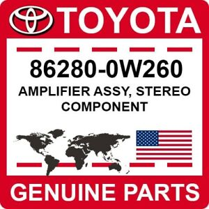 86280-0W260 Toyota OEM Genuine AMPLIFIER ASSY, STEREO COMPONENT