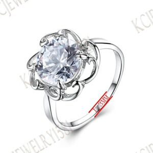 Sale Solitaire Filigree Wedding Solid 10K White Gold Prong Cubic Zirconia Ring