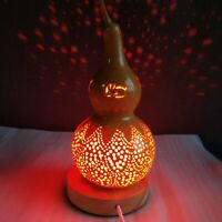 Gourd Lamp Handmade Rabbit Lampshade with Red Light Handcraft Art Romantic Gift