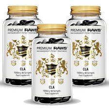 Conjugated Linileic Acid - 3x CLA 1000mg x 270 Softgels by PREMIUM RAWS™