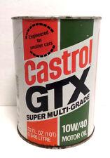 Vintage Castrol GTX 10W/40 Super Multi Grade Motor Oil 1 Quart Can Sealed