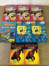8 Boxes Of Valentines Day Cards  Kids School Spongebob Nemo Incredibles L1