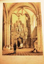 Toledo, catedral. Litografía original de Villaamil,1842-1850.
