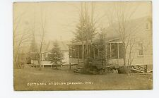 Cottages at Solon Springs RPPC Antique Photo Cabins ca. 1914