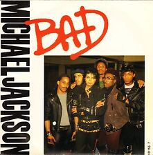 "Michael Jackson Bad/mala Dance Remix Radio Edit 651155 7 Uk Epic 1987 7"" PS en muy buena condición/EX"