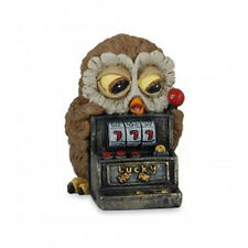 Owl GOOD FORTUNA LES ALPES resin 2 13/16in new gift idea