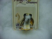 Skye Terrier dog Angel Ornament Hand Painted Resin Figurine New puppy Christmas
