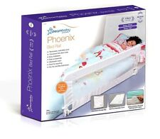 BNIB Dreambaby Pheonix Bed Rail WHITE with breathable mesh and easy fold down