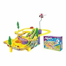 TRACK RACER RACE MULTI LEVEL TRACK TOY, 4 RACING CARS + MUSIC SOUND BOY GIRL TOY
