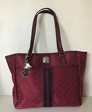 NEW! TOMMY HILFIGER RED SHOPPER SATCHEL TOTE BAG PURSE $89 SALE