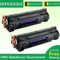 2PK CF283X 83X Black Toner Cartridge For HP LaserJet Pro M201n M201dw M225dn MFP