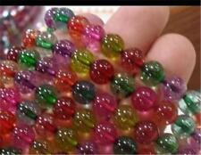 "8mm Multicolor Tourmaline Round Loose Beads 15"" AAA K-200"