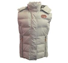 Womens TAN XL Euro-Star Winter Riding Vest w/detachable hood, Warm, Down & Poly