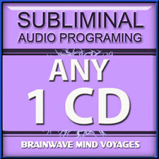 ANY 1 CD SUBLIMINAL HYPNOSIS Hemi Brain Wave Mind Sync Self Help RAPID RESULTS!