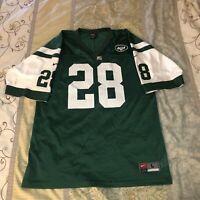 Vintage Nike Curtis Martin New York Jets Green NFL Football Jersey Large NWOT