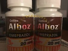 5 - 2pks  Alboz Omeprazol OTC 20mg Acid And Heart Burn 600 Capsules Total