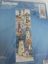Janlynn NEW Counted Cross Stitch Kit Boats Lighthouses 6x21 #13-229 USA