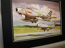 F 86 Sabre Jet North America  Artist Aviation Archives Ebay Largest selection