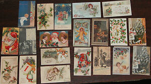 BUMPER PACK 200 (APPROX) VINTAGE MINIATURE CHRISTMAS POSTCARD TOPPERS