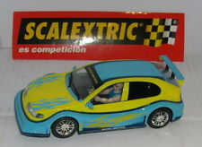 SCALEXTRIC SEAT LEON TUNING  YELLOW/BLUE ONLY IN SETS.MINT UNBOXED