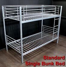 2 x BUNK BEDS SINGLE - SILVER GREY