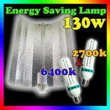 2700k 6400k Hydroponics grow lights 130W CFL & Bat Wing Reflector Grow Bloom Kit